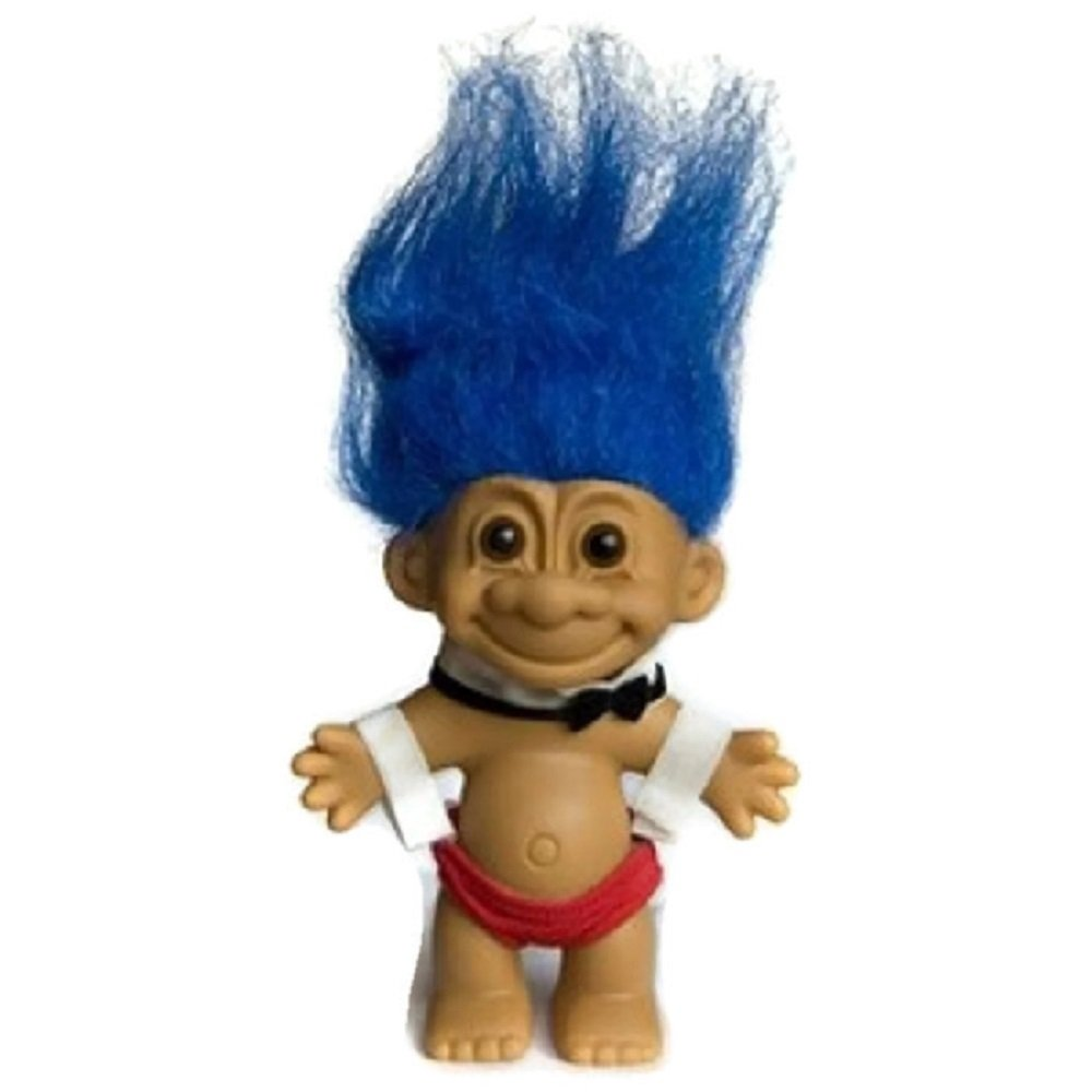 My Lucky Male Stripper Troll Doll - Blue Hair