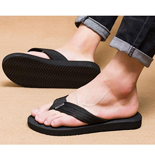 Flip Infradito Sandali Spiaggia Flops Mallimoda Scarpe Pantofole Nero Uomo wxHnqwXU