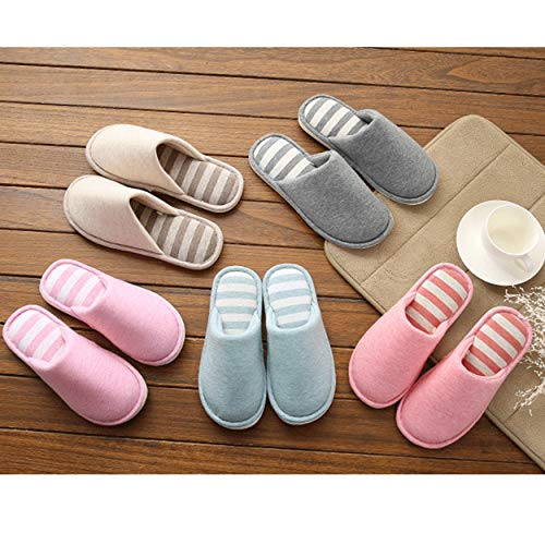 ffccfeaeec42 xsby Indoor Home Slippers Memory Foam Men Women Cotton Cozy Massage Flax  House Casual Slide Shoes