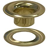 Stimpson Sheet Metal Grommet and Washer Brass Durable, Reliable, Heavy-Duty #5 Set (720 Pieces of Each)