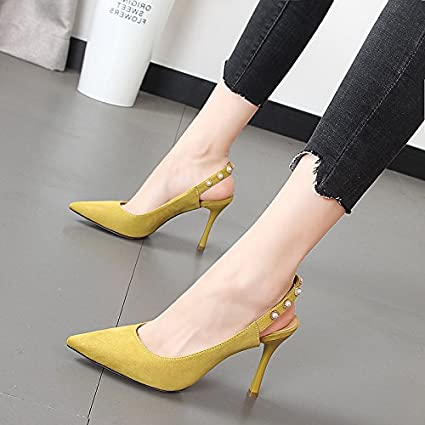 Xue Qiqi Tip light is fine with the high-heel shoes small fresh and stylish Sweet sandals Female