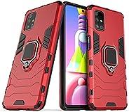 Capa para Samsung Galaxy M51, Capa para Celular à Prova de Choque Blindada Resistente com Anel Giratório de 36