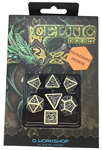 Q Workshop Polyhedral 7 Die Set Celtic