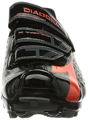 4115 Donna Fluo Diadora Rosso Scarpe Ciclismo Trivex da X Nero UOzOXqA