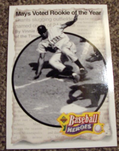 1993 Upper Deck Mlb Card (1993 Upper Deck Willie Mays # 46 MLB Baseball Heroes Card)