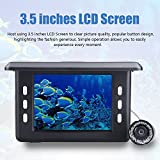 Erchang 3.5 Inch Video Fish Finder HD Color Screen Visual Underwater 130° Wide Angle Waterproof Camera with 8GB Micro SD Card 3000 mAh Rechargeable Fishing Finder