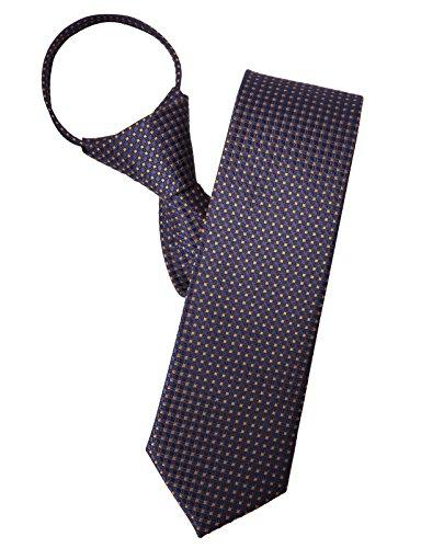 H2H Mens Comfortable Zipper Neck Tie Of Various Unique Dot Patterned YELLOW (KMANT0130)