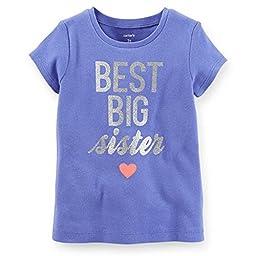 Carter\'s Little Girls Best Big Sister Tee (4T Blue)
