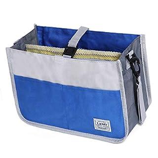 Landuo Baby Tote Diaper Bag, Insert Diaper Caddy Organizer, Nursery Storage Bin for Parenting Supplies (Blue)