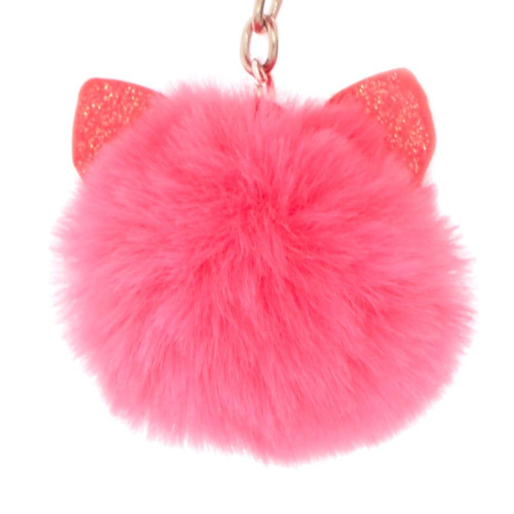 Claires - Cartera con cremallera para niña con diseño de gato con purpurina, color rosa: Claires: Amazon.es: Hogar