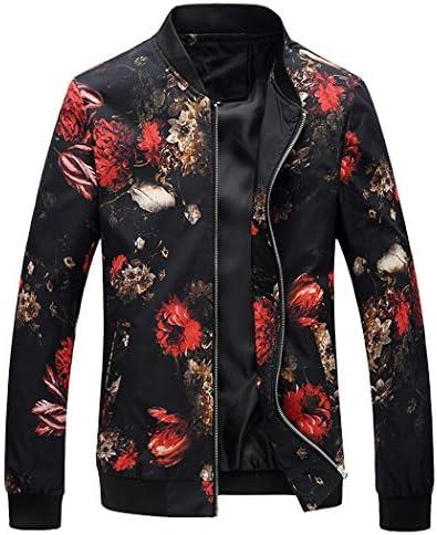 (セミオーガスト)ジャケット メンズ カジュアル スリム 花柄 アウトドア ジャンパー 秋 冬 ブルゾン ストリート ジップアップ シルエット