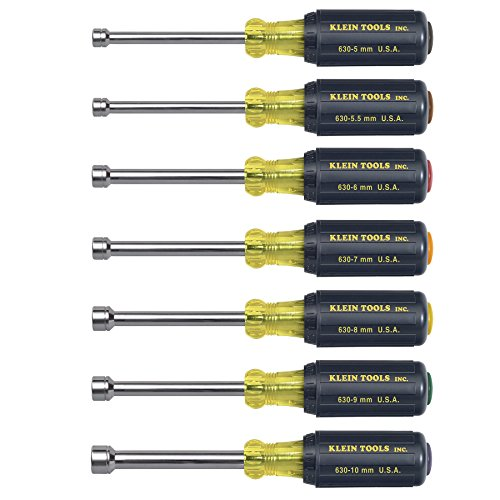 Nut Driver Set, Metric, 3-Inch Shafts, 7-Piece Klein Tools 65160 -