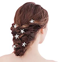 6pcs Starfish Rhinestone Hair Pins Wedding Bridal Women Brides Crystal Party Hair Jewelry Bridal Accessories