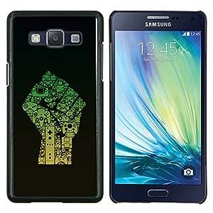 """Be-Star Único Patrón Plástico Duro Fundas Cover Cubre Hard Case Cover Para Samsung Galaxy A5 / SM-A500 ( Poder Puño"""" )"""