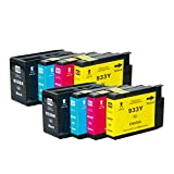 2 Set of 8 Packs ShopCartridges ® NON-OEM Compatible for HP 932XL 933XL Black Cyan Magenta Yellow) Ink Cartridge for HP Officejet 6600 6100 6700 7110 7510 7512 7610 761