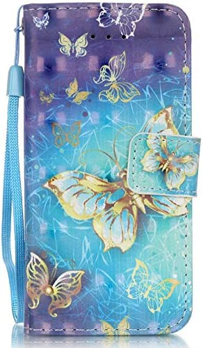 Voanice Magnetic Leather Stylus Blue Butterfly