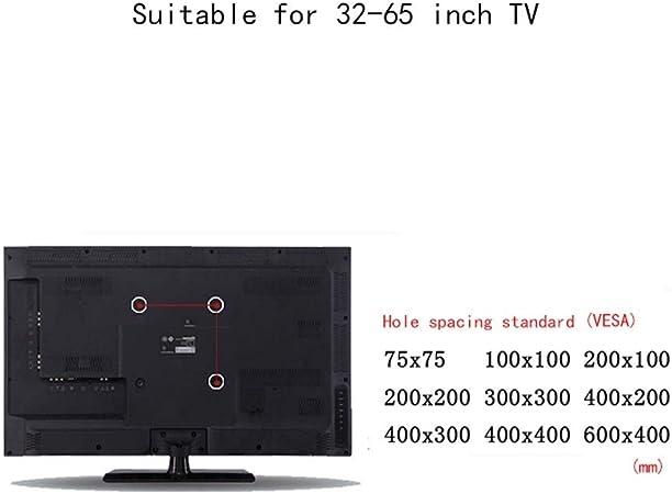XXW Soporte De TV Soporte de Pared Panel Plano TV Rack32-65 Pulgadas Superficie LCD Soporte de Pared Soporte de TV Soporte de Base Percha (Color : Black, tamaño : 42 * 66cm): Amazon.es: Hogar