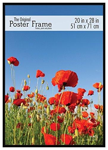 mcs 20x28 inch original poster frame black 65761 home