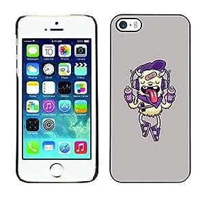 TopCaseStore / la caja del caucho duro de la cubierta de protección de la piel - Dog Funny Cute Pink Drink - Apple iPhone 5 / 5S