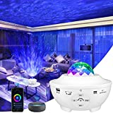 LBell Galaxy Projector 3 in 1 Smart Star Projector Sky Lite with Alexa,Google Assistant for Baby Kids Bedroom/Game Rooms/Home Theatre/Night Light Ambiance with Bluetooth Music Speaker(White) (Color: White)