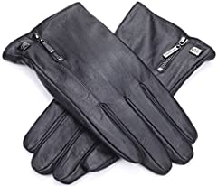 Marino Men's Warm Fashion Leather Gloves, Extreme Cold Weather Waterproof Gloves with Insulation Liner with Button DesignProduct Features: Extremely Warm And Comfy  High Quality Workmanship  Exclusive Button Design Superior Fit With 3 Sizes T...