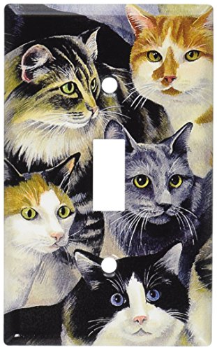 - Art Plates - Just Cats! Switch Plate - Single Toggle