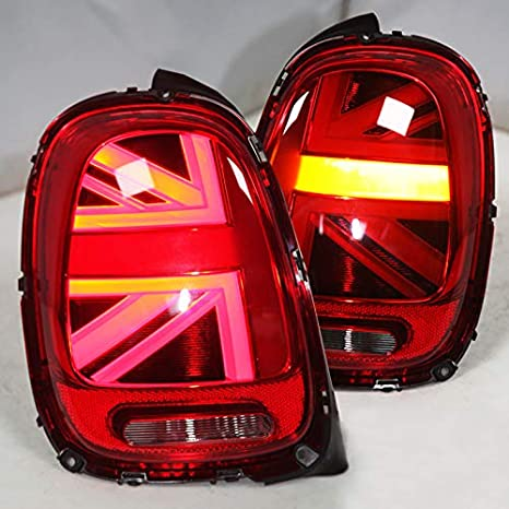 LED Tail lights for BMW Mini Cooper F55 F56 F57 2014-2018 with Running Brake Reverse And Turning Light Black