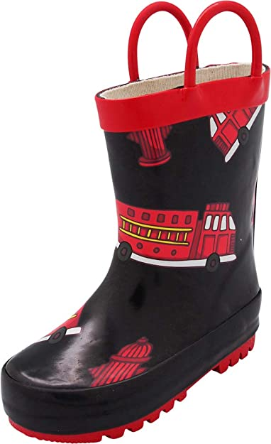 Solid /& Printed Rainboots Toddlers /& Big Kids NORTY Waterproof Rubber Rain Boots for Girls /& Boys