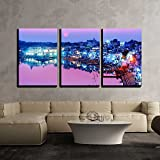 wall26 - 3 Piece Canvas Wall Art - Pushkar Lake at Night Pushkar, Rajasthan, India, Asia - Modern Home Decor Stretched and Framed Ready to Hang - 24''x36''x3 Panels