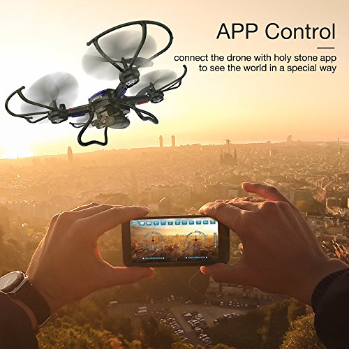 Holy Stone F181W Wifi FPV Drone with 720P Wide-Angle HD Camera Live Video RC Quadcopter with Altitude Hold, Gravity Sensor Function, RTF and Easy to Fly for Beginner, Compatible with VR Headset by Holy Stone (Image #2)
