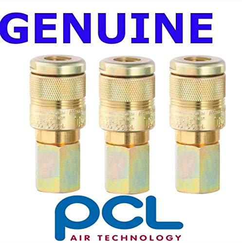 3 X PCL 100 Series Female Couplings 1//2 BSP Female Thread Air Fitting