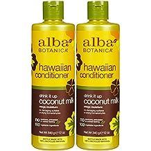 Alba Botanica Hawaiian Extra-Rich Hair Conditioner, Coconut Milk, 12 oz, Pack of 2