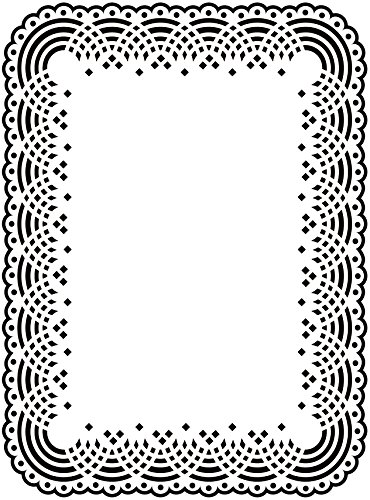 Darice 1217-48 Embossing Folders, 4.25 by 5.7-Inch, Doily Lace Design