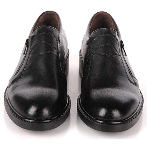 Epicstep Mens Handmade In Vera Pelle Abito Formale Da Lavoro Casual Slip On Mocassini Oxford Scarpe Nere