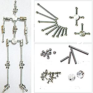 Diy Studio Stop Motion Armature Kits   Metal Puppet Figure for Character Design Creation   Not-Ready Studio Armature Kits Very Easy to Assemble for Stop Motion Animation or Just Fun   160 mm Tall
