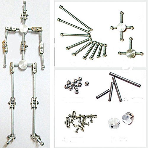 Diy Studio Stop Motion Armature Kits | Metal Puppet Figure for Character Design Creation | Not-Ready Studio Armature Kits Very Easy to Assemble for Stop Motion Animation or Just Fun | 200 mm Tall