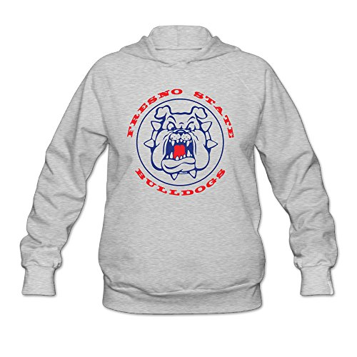 DVPHQ Women's Best Fresno State Bulldogs Football Hooded Sweatshirt Size XXL Ash (Halloween Costume Stores San Jose)