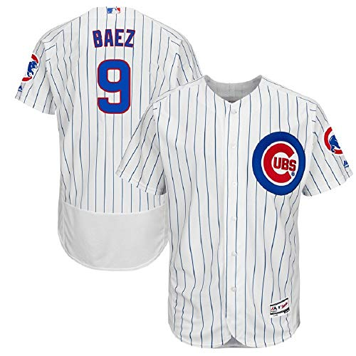 - Javier Baez Chicago Cubs Majestic Home Authentic Collection Flex Base Player Jersey-White (M)