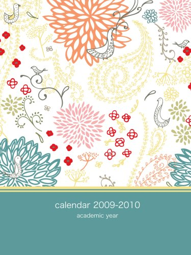 2009 Academic Planner - 2009-2010 Academic Pocket Planner: colorful bird paisley