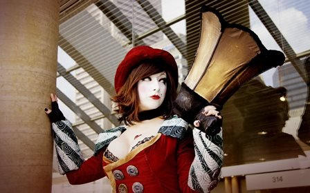 [Bala Fun Borderlands Mad Moxxi cosplay women brunettes uniform costume cleavage redhead sexy babes models Home Decoration Canvas] (Costume Land)
