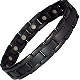 IonTopia Atlas Titanium Magnetic Therapy Bracelet Black L with Free Links Removal Tool