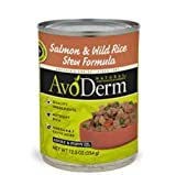 AvoDerm Natural Stews Adult Dog Food, Salmon and Wild Rice, 12.5-Ounce Cans, Case of 12