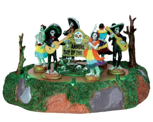 (Lemax Spooky Town Day Of The Dead Parade Battery Operated #)