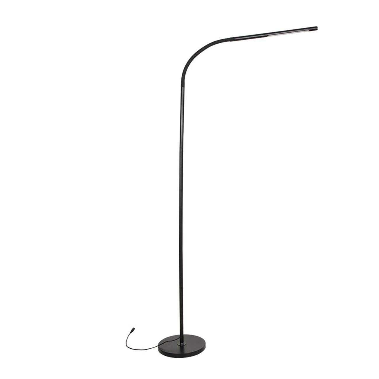 LED Reading Floor Lamp – 4 Color Modes 6W Low Impact Lighting, Low Consumption Brightness Stepless Dimming, with Flexible Gooseneck – Great Reading Floor Light