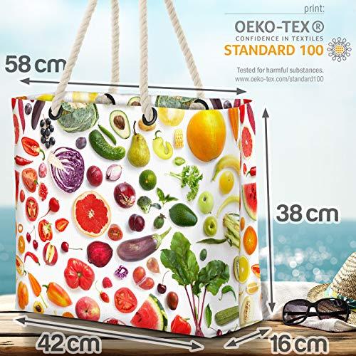 VOID frukt och grönsaker strandväska Shopper 58 x 38 x 16 cm 23 L XXL shoppingväska väska resväska Beach Bag