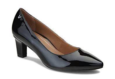 5124bf4774e7 Vionic Women s Madison Mia Heels - Ladies Pumps with Concealed Orthotic  Support Black Patent 5 M