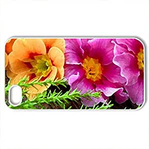 Amazing wild flowers - Case Cover for iPhone 4 and 4s (Flowers Series, Watercolor style, White)