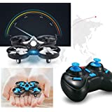 JJRC H36 JJRC H36 RC Quadcopter 6-axis Gyro 360 Degree Roll Headless Mode Helicopter with LED Light, One Key Return (Blue)
