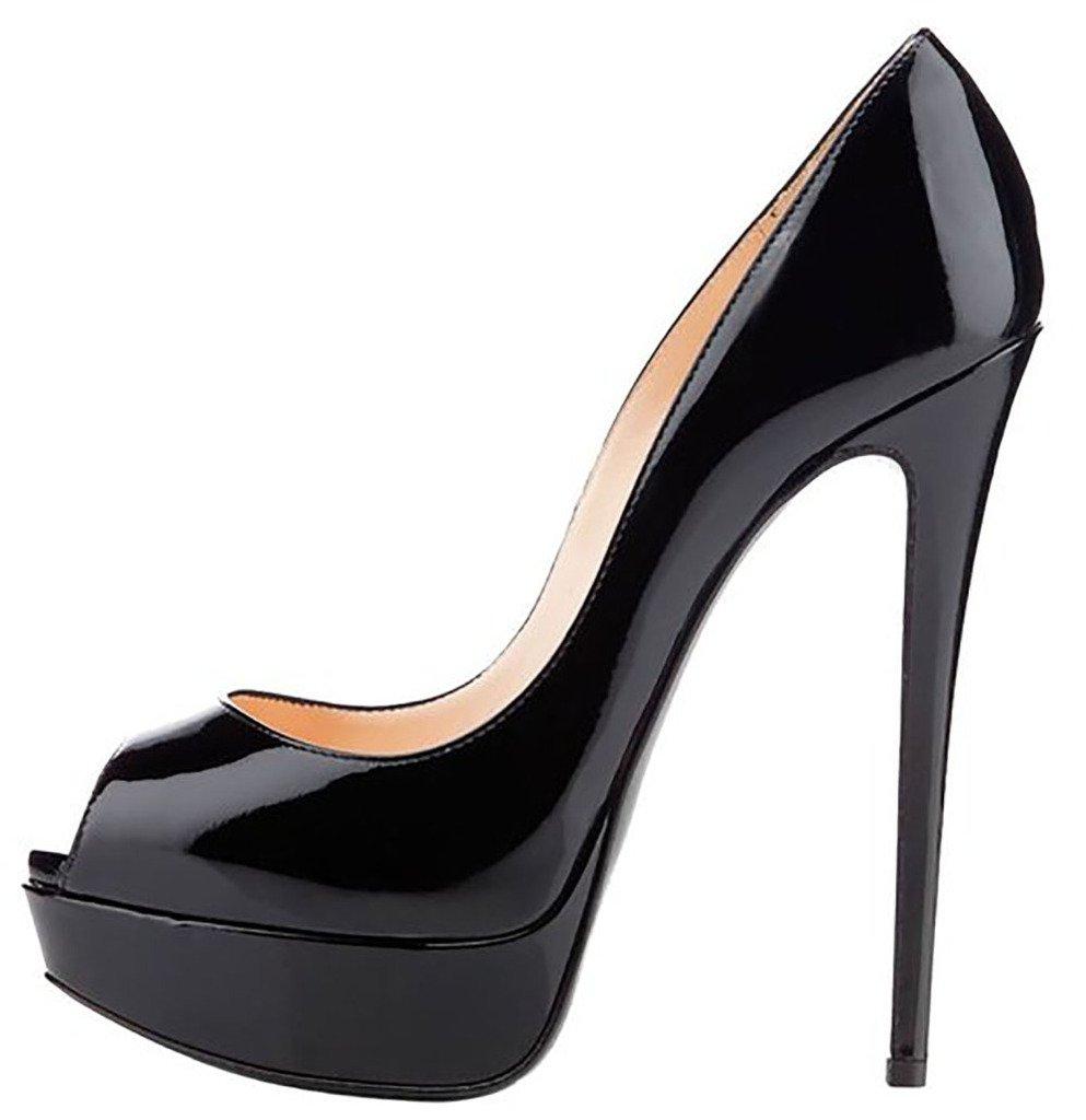 EKS - Zapatos de Tacón Mujer 36 EU|Negro - negro