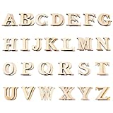 Hicarer 52 Pieces Wood Letters Wooden Alphabets